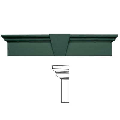 9 in. x 43-5/8 in. Flat Panel Window Header with Keystone in 028 Forest Green Product Photo