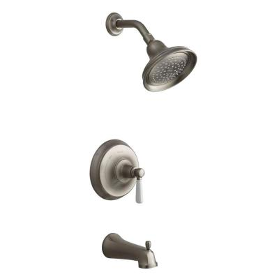 Bancroft Rite-Temp Pressure-Balance Tub/Shower Faucet Trim in Vibrant Brushed Nickel (Valve Not Included) Product Photo