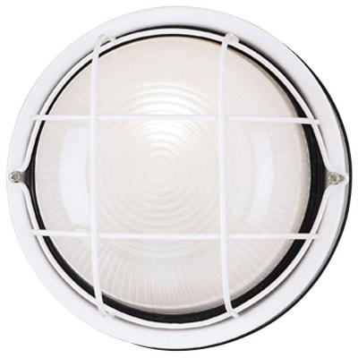 Westinghouse 1-Light White Steel Exterior Wall Fixture with White Glass Lens