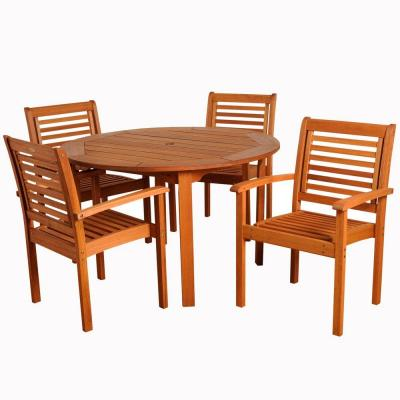 Furniture Dining Room Furniture Table Milano Round Table Eucalyptus Wood