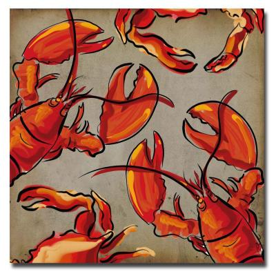 "Trademark Art ""Crab and Lobster II"" Canvas Art by Working Girls Design"