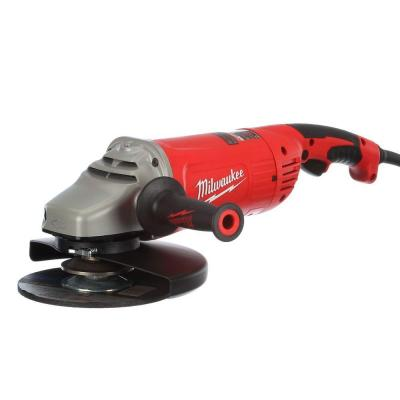 Milwaukee 15 Amp 7/9 in. Large Angle Grinder with Trigger Lock-On Switch
