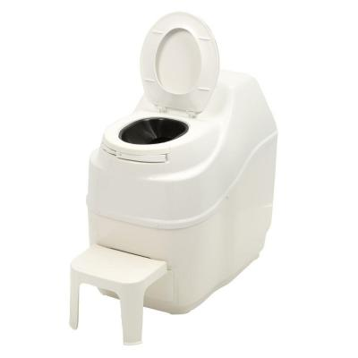 Sun-Mar Excel Electric Waterless High Capacity Self Contained Composting Toilet in White