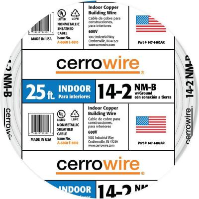 Cerrowire 25 ft. 14/2 NM-B Wire