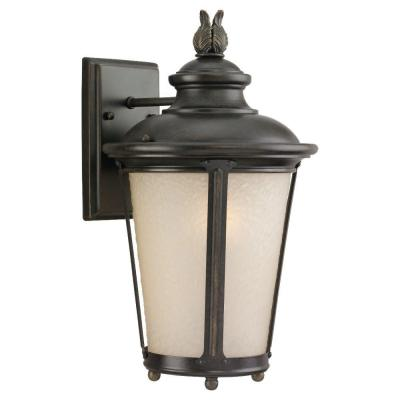 Sea Gull Lighting Cape May Wall-Mount 1-Light Outdoor Burled Iron Fixture
