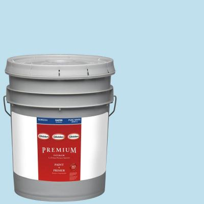 5-gal. #HDGB44 Clear Blue Sky Satin Latex Interior Paint with Primer