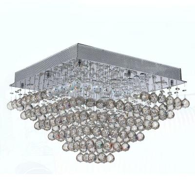 Icicle Collection 8-Light Chrome Crystal Ceiling Light Product Photo