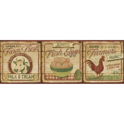 6 in. Farmers Market Dark Green Border Product Photo