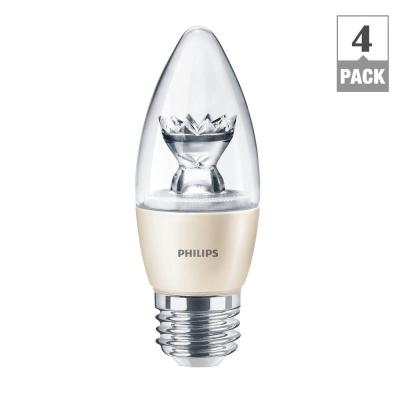 60W Equivalent Soft White (2700K) B13 Blunt Tip Candle Dimmable LED