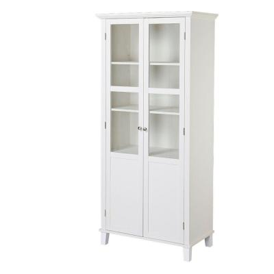 2-Door Painted MDF Storage Cabinet in White Product Photo