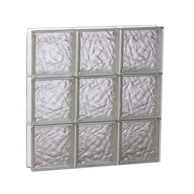 23.25 in. x 23.25 in. x 3.125 in. Non-Vented Ice Pattern Glass Block Window Product Photo