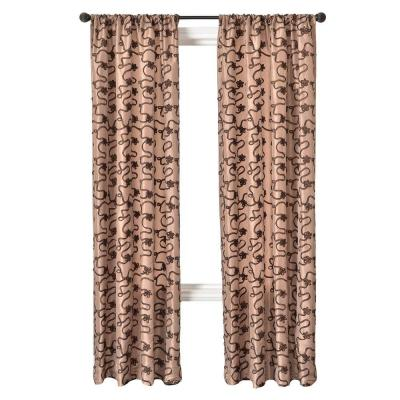 Home Decorators Collection Latte/Chocolate Bliss Rod Pocket Curtain - 54 in.W x 96 in. L