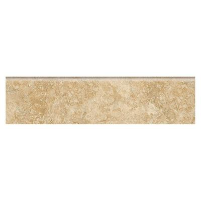 Fantesa Cameo 3 in. x 12 in. Glazed Porcelain Floor and Wall Bullnose Tile Product Photo