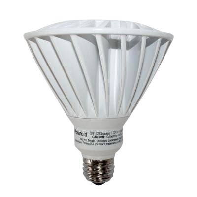 Polaroid Lighting 120W Equivalent Cool White (4100K) PAR38 Dimmable Indoor/Outdoor LED Flood Light Bulb