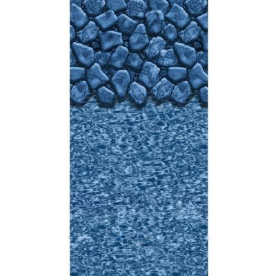 Boulder Swirl 52 in. Deep 18 ft. Round Beaded Pool Liner Product Photo