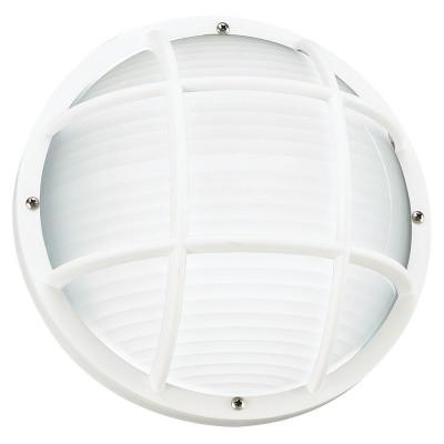 Bayside 1-Light Outdoor White Wall Wall and Ceiling Fixture