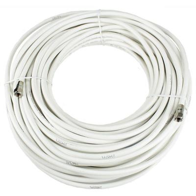 PerfectVision 100 ft. RG-6 White Coaxial Cable with Ends