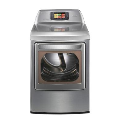 LG Electronics 7.3 cu. ft. Gas Dryer with Steam in Graphite Steel-DISCONTINUED