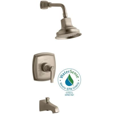 Rite-Temp Pressure-Balancing 1-Handle Tub and Shower Faucet Trim Kit in Vibrant Brushed Bronze (Valve Not Included) Product Photo