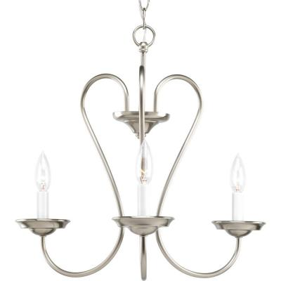 Progress Lighting Heart Collection 3 Light Brushed Nickel