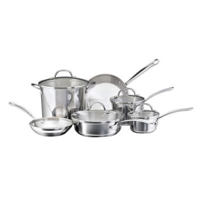 Farberware Millennium 10-Piece Stainless Steel Cookware Set with Lids