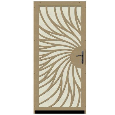 36 in. x 80 in. Solstice Tan Surface Mount Steel Security