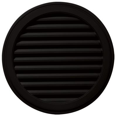 36 in. Round Gable Vent #002 Black Product Photo