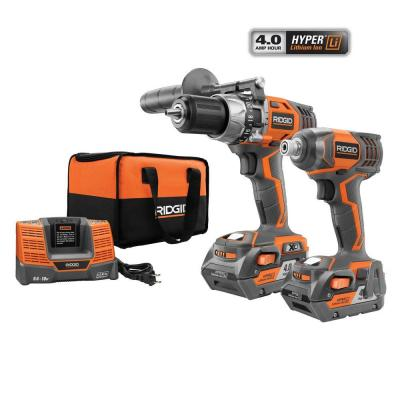 RIDGID X4 18-Volt Hyper Lithium-Ion Cordless Hammer Drill/Driver and Impact Driver Combo Kit