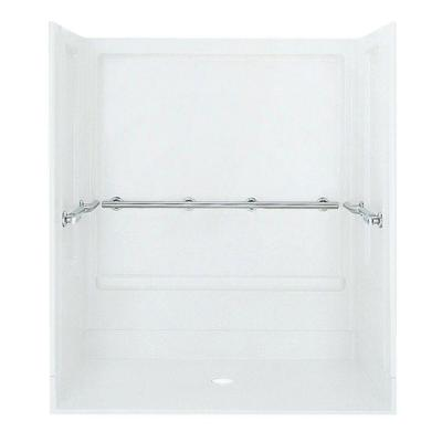 Roll-In 39-3/8 in. x 63-1/4 in. x 73-1/4 in. Shower Kit