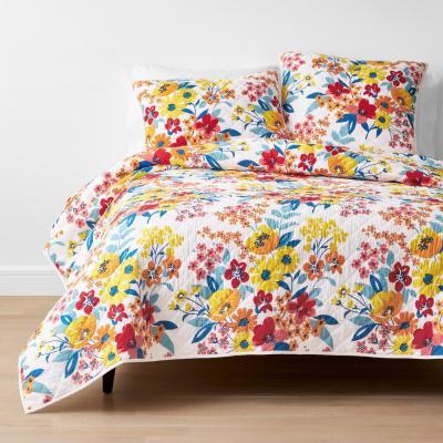 Krina Multicolored Floral Cotton Quilt