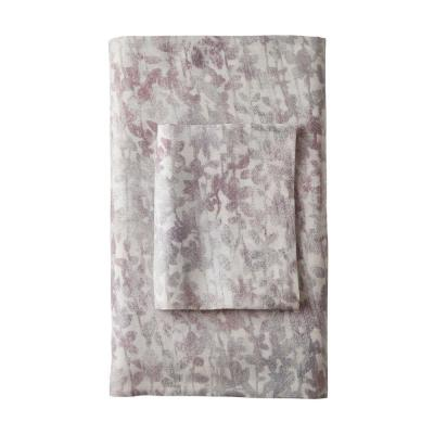 Illusion Botanical 300-Thread Count Sateen Pillowcase (Set of 2)