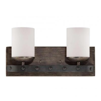 Vanity Lights With Wood : Filament Design Aumbrie 2-Light Reclaimed Wood Bath Vanity Light-CLI-SH0240003 - The Home Depot