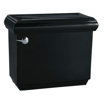 KOHLER Memoirs Classic 1.6 GPF Single Flush Toilet Tank Only with AquaPiston Flush Technology in Black Black