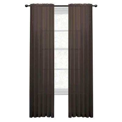 Window Elements Diamond Sheer Voile Rod Pocket Extra Wide Collection - Window Curtain