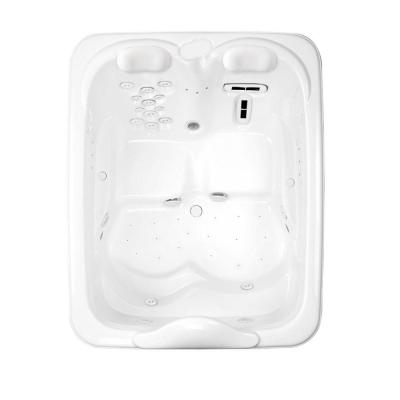 Millennium 7 - 6 ft. Center Drain Whirlpool Bath Tub with Heater in White Product Photo
