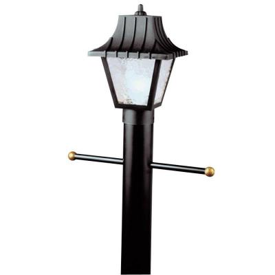 Westinghouse 1-Light Black Hi-Impact Polycarbonate Post-Top Exterior Lantern with Clear Textured Acrylic Panels