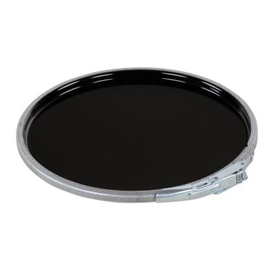5 Gal. Black Un-Rated Lever Lock Steel Lid