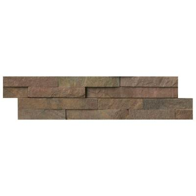 Copper Ledger Panel 6 in. x 24 in. Natural Quartzite Wall