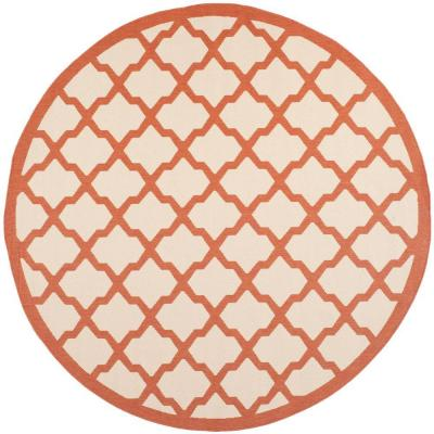 Courtyard Beige/Terracotta 7 ft. 10 in. x 7 ft. 10 in.