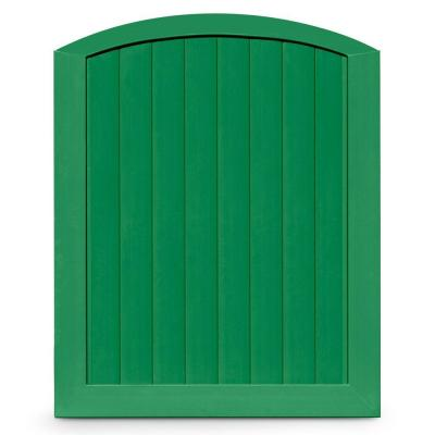 Veranda Pro Series 5 ft. W x 6 ft. H Green Vinyl Anaheim Privacy Arched Top Fence Gate