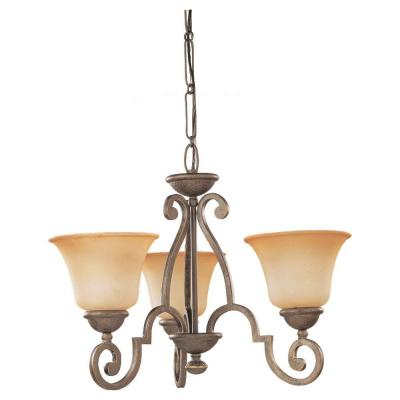 Sea Gull Lighting Brandywine 3-Light Antique Bronze Single Tier Chandelier 39031BLE-71
