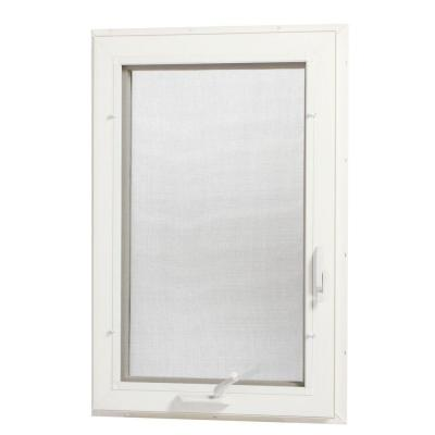 TAFCO WINDOWS 24 in. x 48 in. Left-Hand Vinyl Casement Window with Screen - White