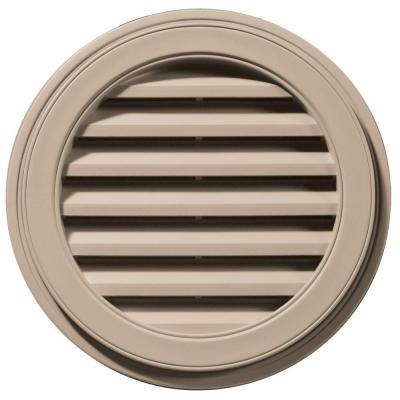 22 in. Round Gable Vent in Wicker Product Photo