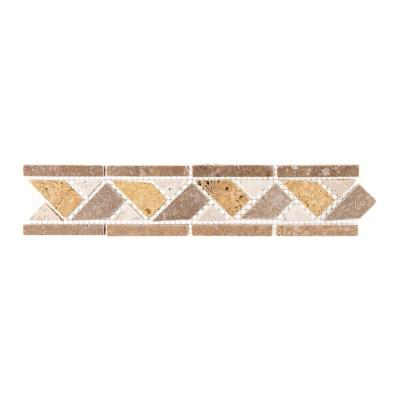 Piza 2 in. x 12 in. x 8 mm Travertine Pencil Rail Wall Accent Trim Product Photo
