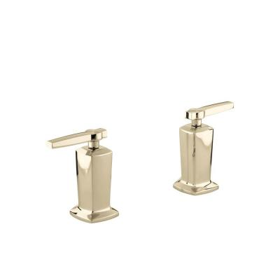Margaux 2-Handle Deck-Mount High-Flow Bath Valve Trim Kit in Vibrant French Gold (Valve Not Included) Product Photo