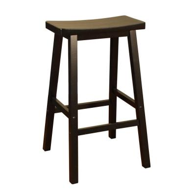 ... Wood Saddle 24 in. Counter Stool in Black-124802BLK - The Home Depot