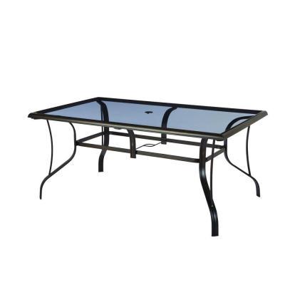 hampton bay statesville rectangular glass patio dining table - Hampton Bay Outdoor Furniture