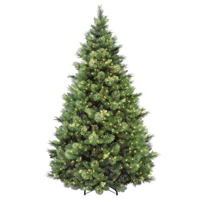 7-1/2 ft. Carolina Pine Hinged Artificial Christmas Tree with 86 Flocked