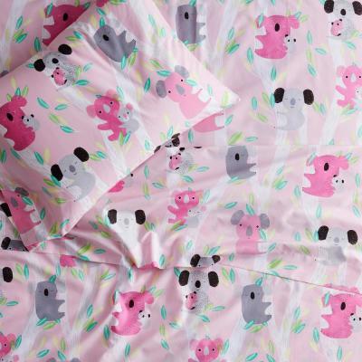 Kuddly Koalas 200-Thread Count Organic Cotton Percale Sheet Set