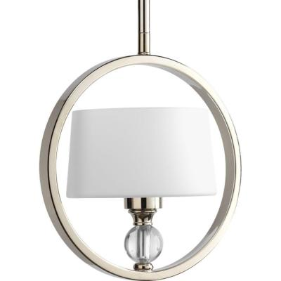 Fortune Collection 1-Light Polished Nickel Mini Pendant